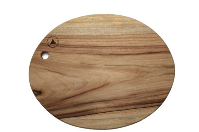 Oval Round wooden chopping boards made in Australia