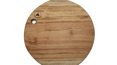 Round Large wooden chopping boards with Thumb Hole